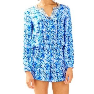 Lilly Pulitzer Colby Romper lapis blue size XXS